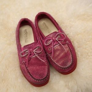 Sperry Top Sider Pink Sparkle girls 12.5